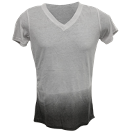Picture of Ladies Burnout Ombre V-Neck