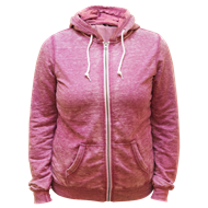 Picture of Ladies Burnout Zip Hoody